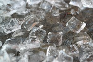 ice cubes are a great temporary solution to acne soreness